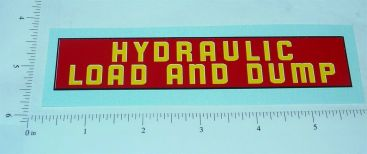 Structo Hydraulic Dump N Load Truck Sticker Main Image