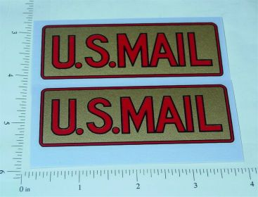 Pair Structo Pre-War US Mail Screenside Truck Stickers Main Image