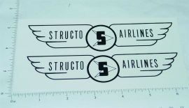 Structo Airlines Scissor Lift Box Van Stickers