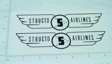 Structo Airlines Scissor Lift Box Van Stickers Main Image