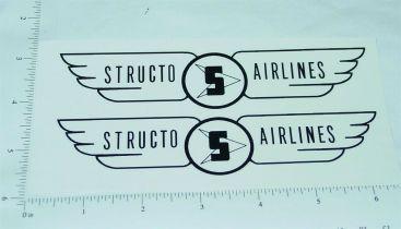 Pair Structo Airlines Scissor Lift Box Van Stickers Main Image