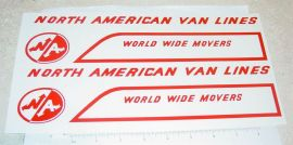 Structo North American Van Lines Stickers