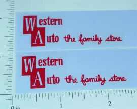 Structo Western Auto Stores Pickup Truck Stickers