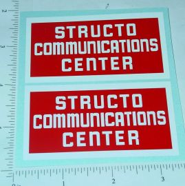 Structo Communications Truck Stickers