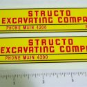 Structo Excavating Company Dump Truck Stickers Main Image