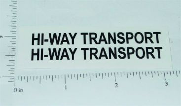 Structo Hiway Transport Semi Trailer Stickers Main Image