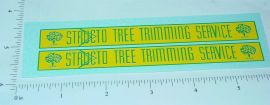 Structo Tree Trimming Bucket Truck Stickers