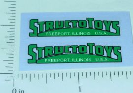 Pair Structo Toys Green Door Logo Stickers