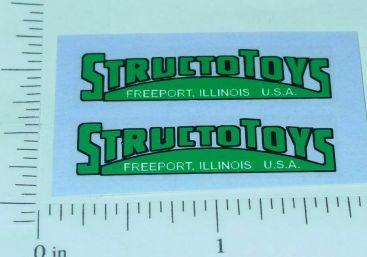 Pair Structo Toys Green Door Logo Stickers Main Image