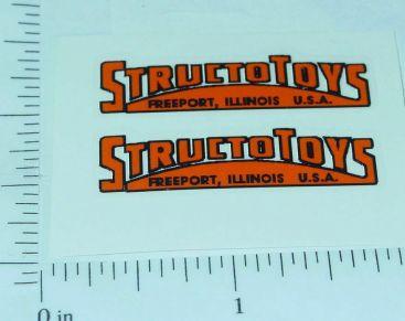 Pair Structo Toys Orange Door Logo Stickers Main Image