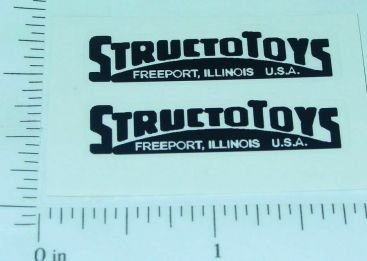 Pair Structo Toys Black Door Logo Stickers Main Image