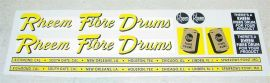 Structo Rheem Fibre Drums Semi Sticker Set