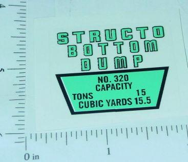 Structo Bottom Dump Replacement Sticker Main Image