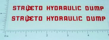 Structo Hydraulic Dump Truck Stickers Main Image