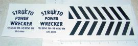 Structo Power Wrecker Replacement Stickers