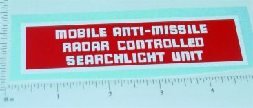 Structo Mobile Anti-Missile Searchlight Sticker Main Image