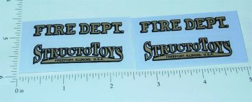 Structo International Fire Pumper Truck Stickers Main Image