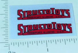Structo Red/Black Replacement Door Stickers
