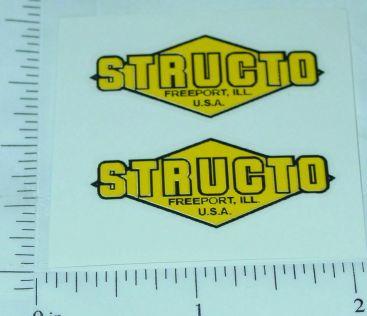 Structo Yellow/Black Diamond Style Door Stickers Main Image