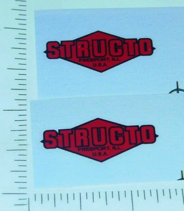 Structo Red/Black Diamond Style Door Stickers Main Image