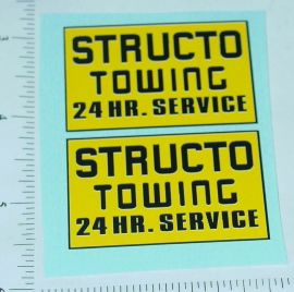 Structo Towing Pickup/Wrecker Stickers