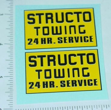 Structo Towing Pickup/Wrecker Stickers Main Image