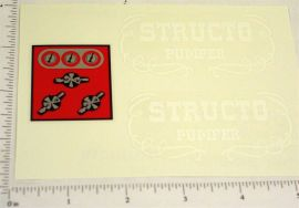 Structo Fire Department Pumper Truck Stickers