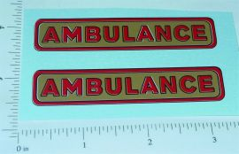 Structo Pre-War Ambulance Replacement Stickers
