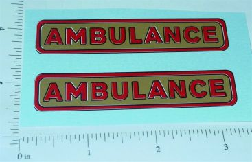Structo Pre-War Ambulance Replacement Stickers Main Image
