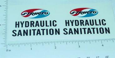 Structo Hydraulic Sanitation Truck Stickers Main Image