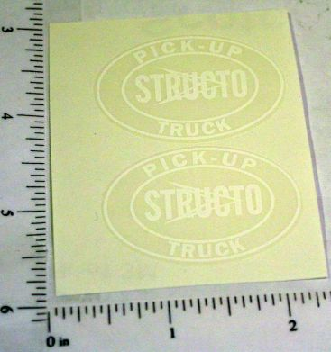 Structo Pickup Truck Replacement Stickers Main Image