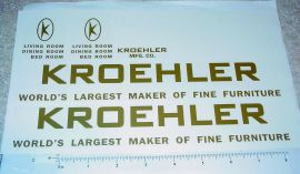 Structo Kroehler Furniture Semi Sticker Set