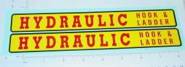 Structo Hydraulic Hook & Ladder Truck Stickers