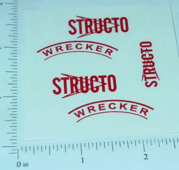 Structo Scout Wrecker Tow Truck Sticker Set Main Image