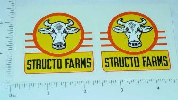 Structo Farms Semi Trailer Yel/Org Stickers Main Image