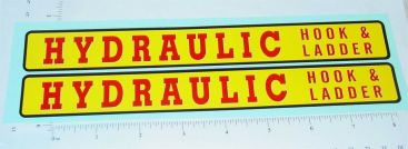 Structo Hydraulic Hook & Ladder Truck Stickers Main Image