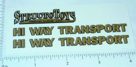 Structo Hiway Transport Semi Truck Stickers