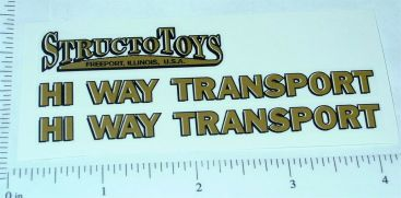 Structo Hiway Transport Semi Truck Stickers Main Image