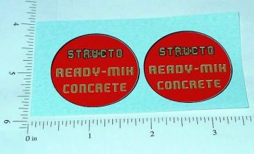 Structo Ready Mix Cement Truck Stickers Main Image