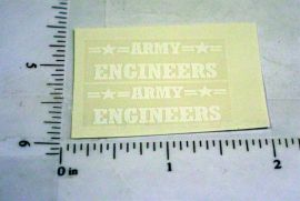 Structo Army Engineers Sticker Set