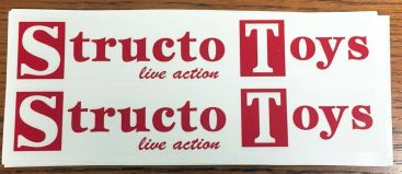 Structo Toys Semi Trailer Sticker Set Main Image