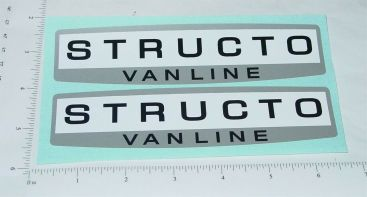 Structo Van Lines Semi Trailer Sticker Set Main Image