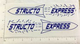 Structo Express Semi Trailer Replacement Sticker Set