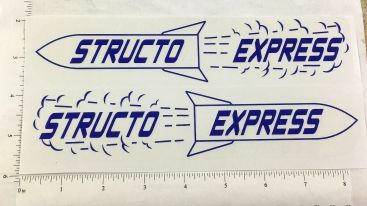 Structo Express Semi Trailer Replacement Sticker Set Main Image
