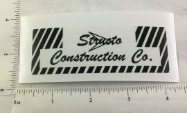 Structo Construction Company Replacement Sticker