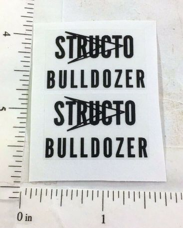 Structo Bulldozer Construction Toy Replacement Stickers Main Image
