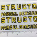 Structo Parcel Service Delivery Van Truck Replacement Stickers Main Image