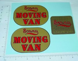 Sonny Moving Van Replacement Sticker Set