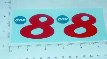 Cox Thimble Drome Shrike Prop Rod Stickers Main Image