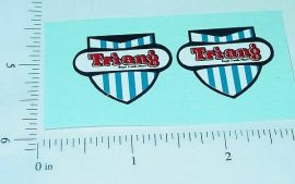 Pair Triang Badge Logo Replacement Stickers